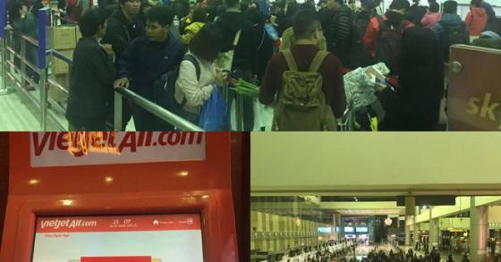 Hệ thống của Vietjet Air gặp sự cố, khách không thể check in