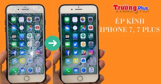 Thay mặt kính iPhone 7, 7 Plus (Tặng dán Cường lực)