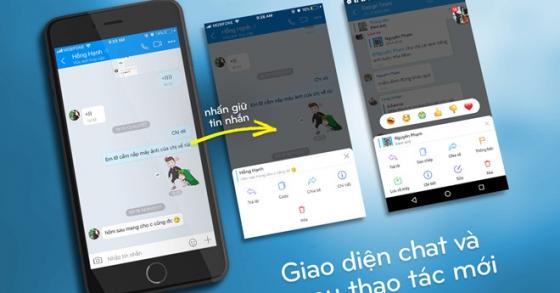 Zalo thêm tính năng nhắn tin không cần mở ứng dụng