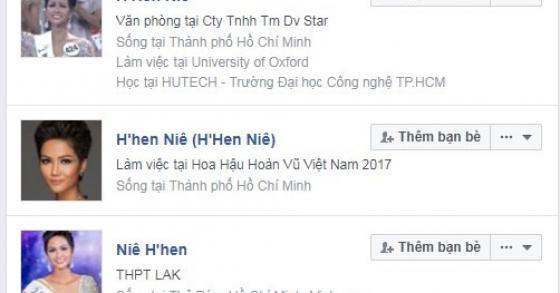 Xuất hiện hàng loạt tài khoản Facebook giả mạo tân Hoa hậu