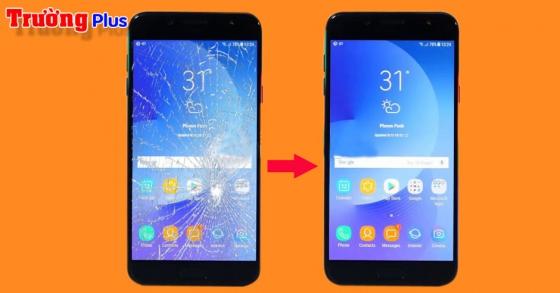 Thay mặt kính Samsung Galaxy J7+ (J7 Plus ) zin giá rẻ nhất Bình Sơn lấy liền trong vài giờ.