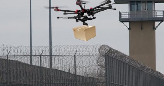 Băng nhóm chuyên dùng drone chuyển hàng cho tù nhân