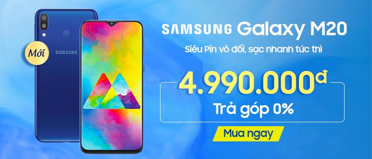 Mua Samsung M20 giảm ngay 200k